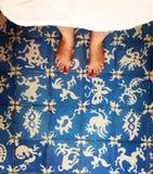 Feet on floor royalty free stock photo