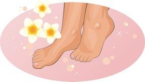 feet flowers frangipani spa ελεύθερη απεικόνιση δικαιώματος