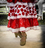 Feet of folk dancer dancing. In a presentation royalty free stock images