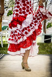 Feet of folkloric dancer Royalty Free Stock Photography