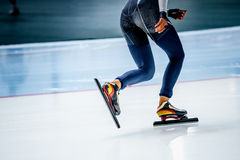 Feet girl athletes skaters Stock Image