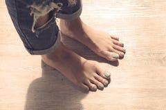 Feet of girl Stock Photos