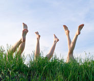 Feet of girls Stock Photography