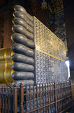 Feet of the Reclining Buddha in Wat Pho. Feet of the golden Reclining Buddha in Wat Pho, Bangkok, Thailand stock photography