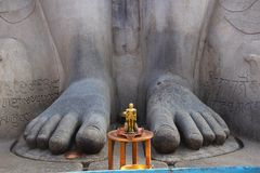 Feet of  Gommattesvara Bahubali close up. Dated 978-993. Shravanabelagola Channarayapatna, Hassan district, Karnataka. South India Stock Photography