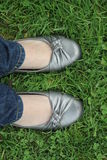 Feet in Grass Royalty Free Stock Photography
