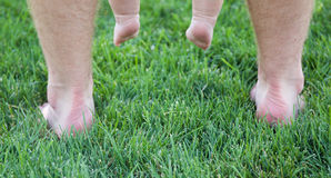 Feet on grass Royalty Free Stock Photos