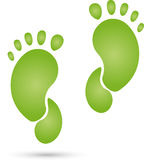 Feet in green, physiotherapy, occupational therapy, logo Stock Photos
