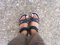 Feet  on ground Stock Photo
