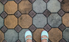 Feet on the ground Royalty Free Stock Images