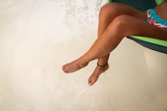 Feet in Hammock Royalty Free Stock Photos