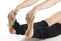 Feet and hands Royalty Free Stock Photos
