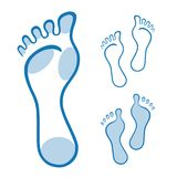 Feet illustration made with curved lines Stock Images