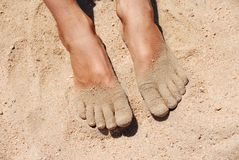 Free Feet In Sand Stock Photos - 15204063