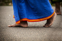 Feet of indian man Stock Images