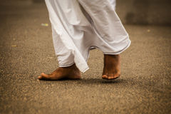 Feet of indian man Royalty Free Stock Photo