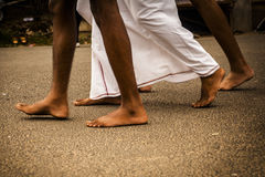 Feet of indian man Royalty Free Stock Images