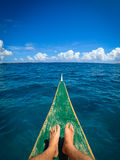 Feet on Island Boat Tour Stock Image