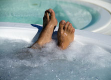 Feet Jacuzzi Stock Photo