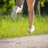 Feet of a jogger Royalty Free Stock Image