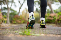 Feet of jogger jogging Royalty Free Stock Image