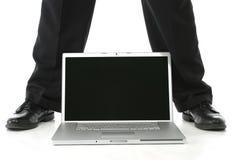 Feet and Laptop Stock Photos