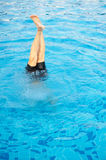 Feet and legs out of the water in the pool. Feet and legs out of the water in the pool Royalty Free Stock Photography