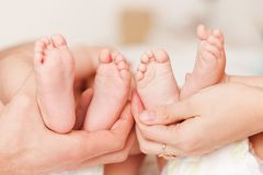 Feet of little tweens Royalty Free Stock Image