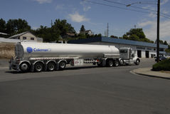 75 FEET LONH OIL TRUCK Royalty Free Stock Images