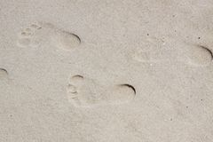 Feet marks Royalty Free Stock Photos