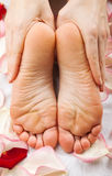 Feet massage Stock Image