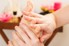 Feet Massage in spa Royalty Free Stock Photo