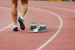 Feet men runner sprinter Stock Photography