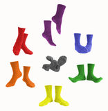Feet Moods in a Color Wheel Stock Image