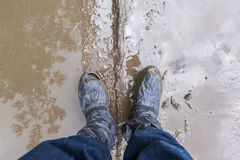Feet in the mud Stock Image