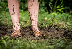 Feet in Mud Stock Photos
