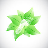 Feet and natural leaves illustration design Royalty Free Stock Photo