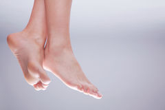 Feet nature close up Stock Photos