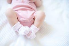 Feet of newborn baby Royalty Free Stock Photos