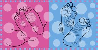 Feet newborn Royalty Free Stock Photography