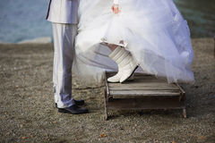 Feet newlywed Stock Images