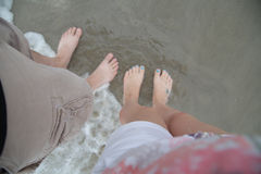 Feet in the ocean Royalty Free Stock Photography