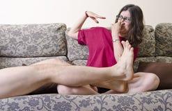 Feet odor. Stock Image
