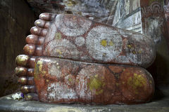 Feet Of Reclining Buddha In Dambulla Cave Royalty Free Stock Photography