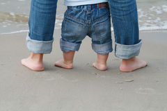 Feet On Sand Stock Photos