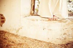 Feet over stray Royalty Free Stock Photography
