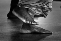 Feet. A pair of dancing feet royalty free stock photos