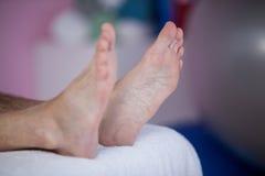Feet of patient Stock Image