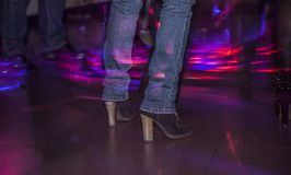 Feet of people dancing Royalty Free Stock Images