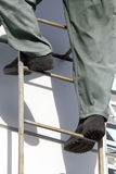 Feet   person   ladder Royalty Free Stock Image